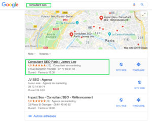 fiche google my business jamey lee