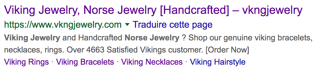 meta description optimisé