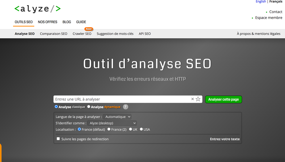 analyse outil Seo gratuit