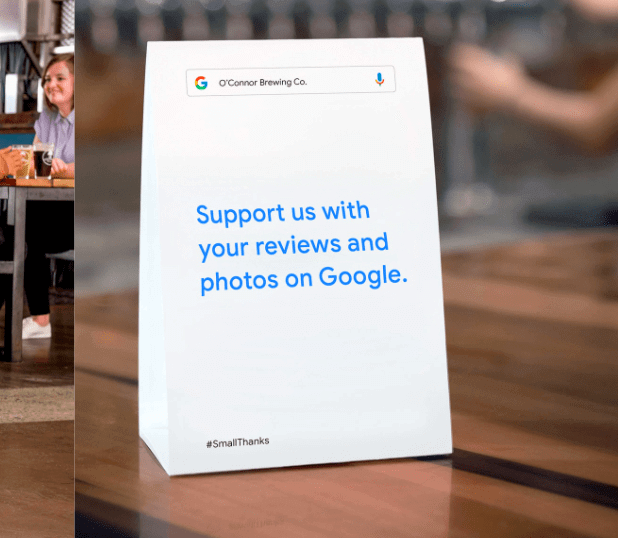 google my business stickers