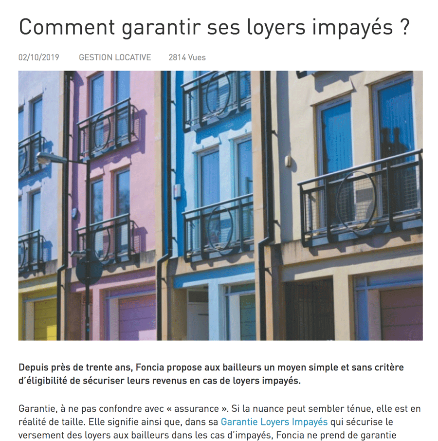 Article marché immobilier