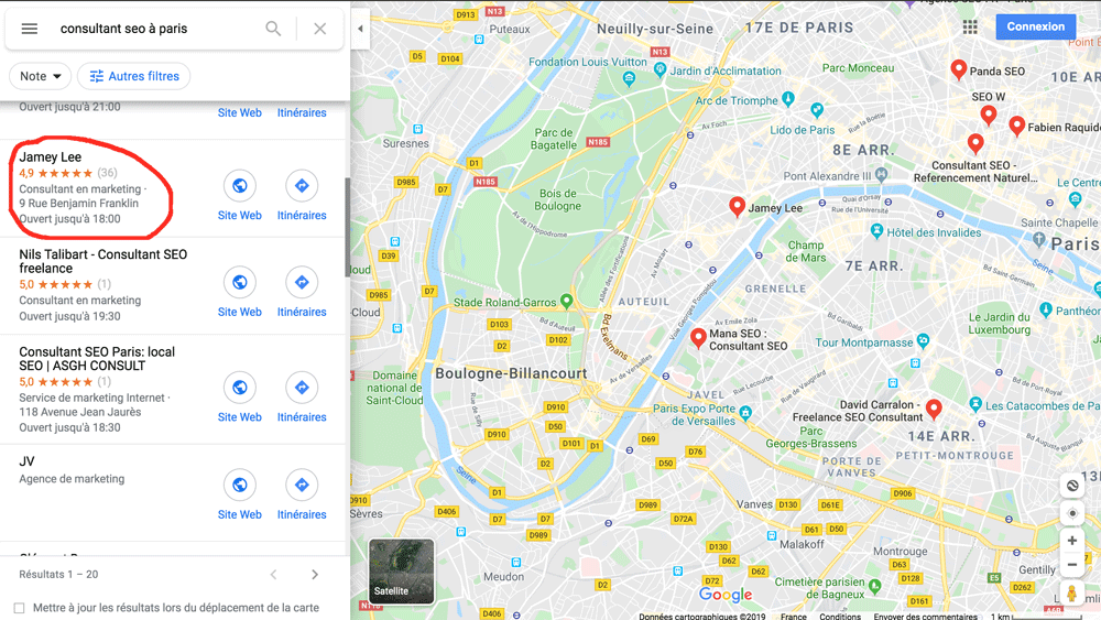 carte google maps