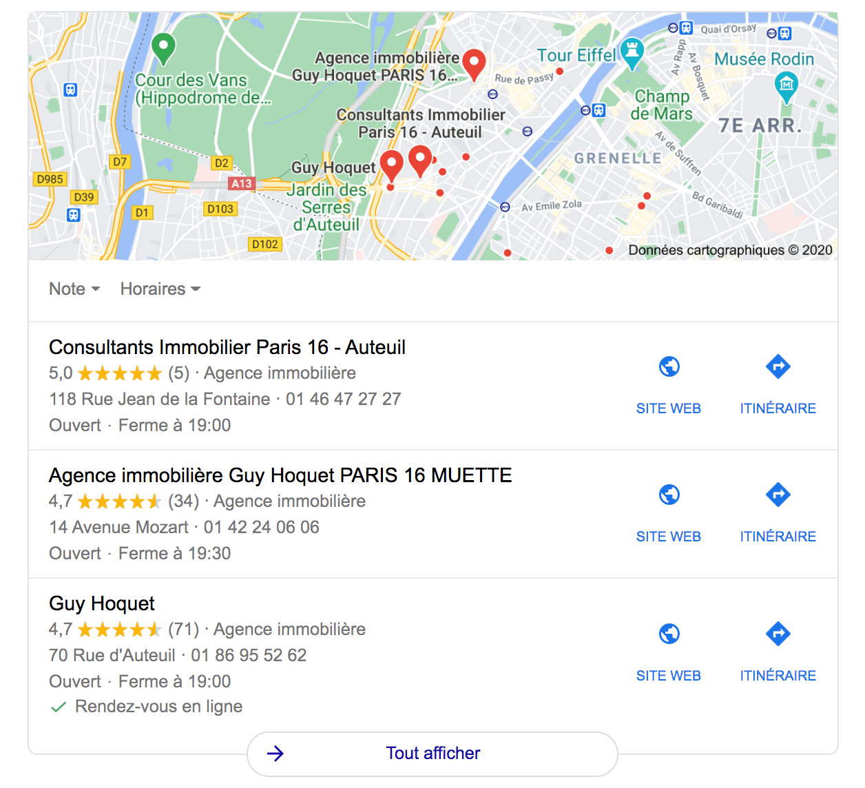 pack local google exemple