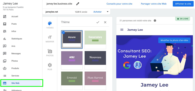 créer un site Google mY Business